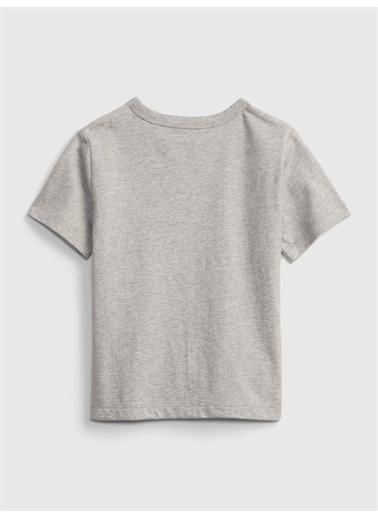 Gap Organik Pamuk  Grafik Desenli T-Shirt Pembe